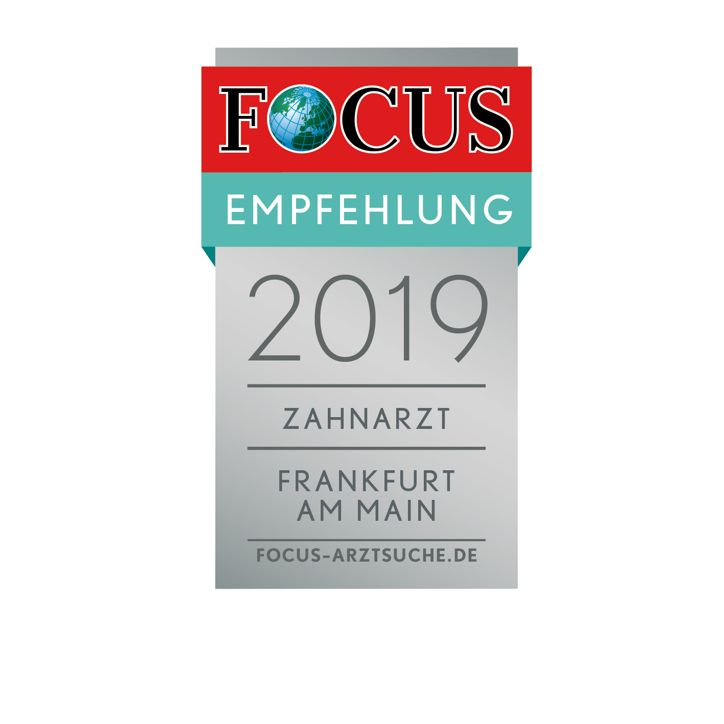 FCGA Regiosiegel 2019 Zahnarzt Frankfurt am Main